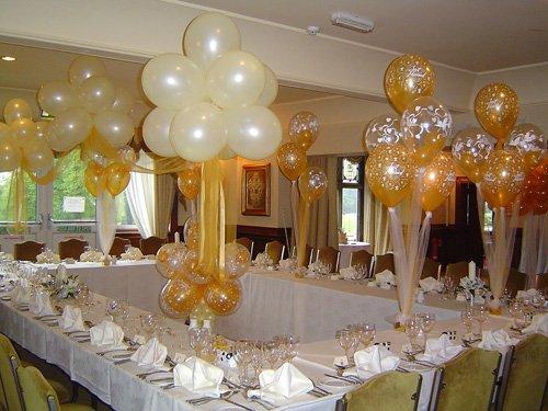 Как украсить свадебный зал из шаров руками