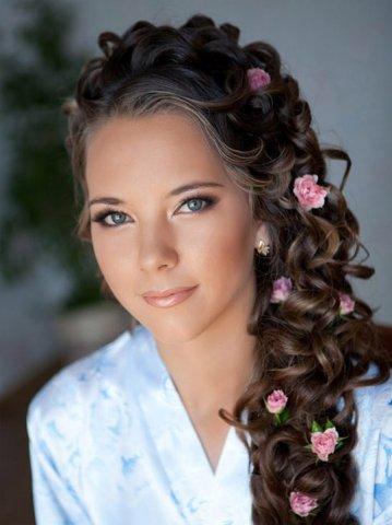 Прическа для длинных волос на свадьбу фото