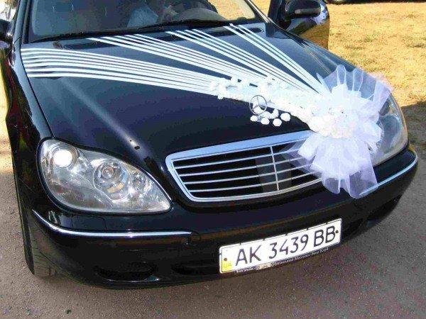 свадебные украшения на машине фото